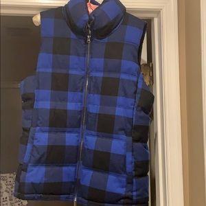 Old navy buffalo plaid vest